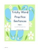 CKLA Tricky Words Sentence Practice