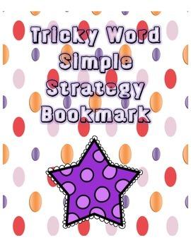 Tricky Word Strategy Bookmark