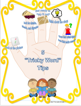 Tricky Word Tips Poster and Desk Tags