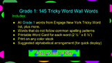 Tricky Word Wall Words for First Grade