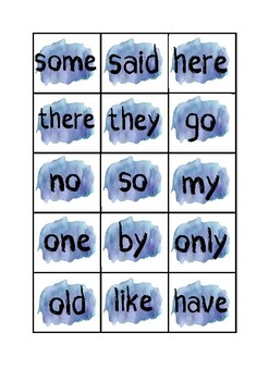 Tricky Word roll & write printable game