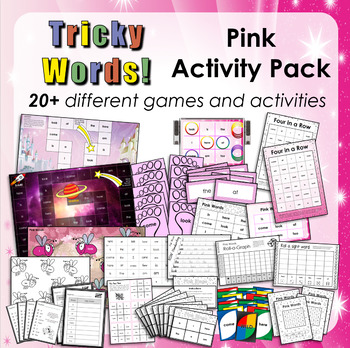 Jolly Phonics Tricky Words 1-12 - Pink Word Activity Pack. Free!