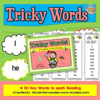 Tricky Words- 60 Key Words to Spark Reading