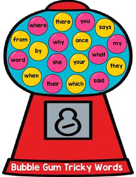 Sight Words (CKLA Tricky Words) Bubble Gum Match Review