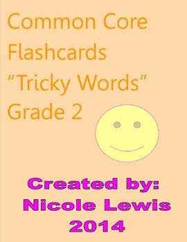 Tricky Words- Common Core- Flashcards- ELA Skills