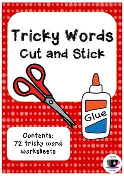Tricky Words Cut and Stick - Jolly Phonics
