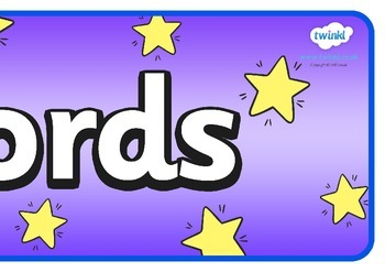 Tricky Words Display Banner