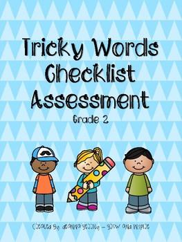Tricky Words Easy Checklist Assessment