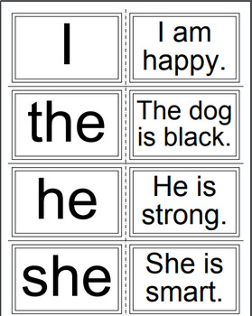Tricky Words Flashcards red group