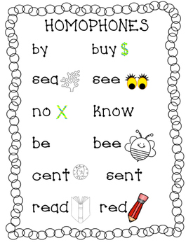 Tricky Words: HOMOPHONES