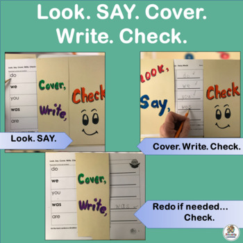 Amazing Sight Word Practice happens with Look SAY Cover Write Check!