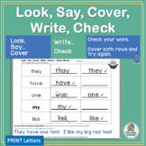 Read & Spell: Look SAY Cover Write Check! | Phonics is Jolly Fun!