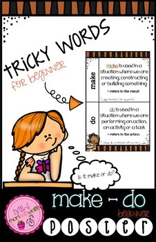 Tricky Words Make - Do POSTER