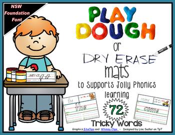 Tricky Words Playdough-Dry Erase Mats - NSW Foundation