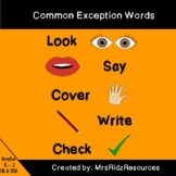 Jolly Phonics Tricky Words - Look, Say, Cover, Write Check Activity