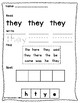 Jolly Phonics Tricky Words Worksheets Set 2