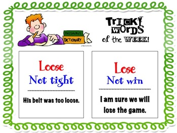 Tricky Words of the Week- Homophones and other bothersome words