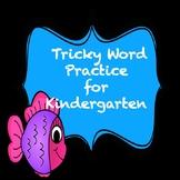 Trick Word Practice Books for Kindergarten