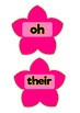 Tricky words on flowers