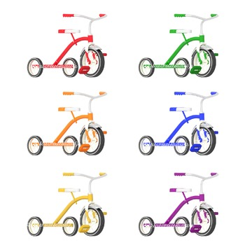 Tricycle Clipart, Preschool Clipart, Summer Clipart, Commercial Use Graphics