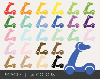 Tricycle Digital Clipart, Tricycle Graphics, Tricycle PNG