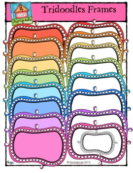 Tridoodles Frames Colours Galore {P4 Clips Trioriginals Digital Clips}