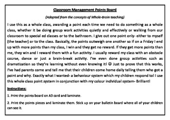 Tried and tested Classroom Management Points Board
