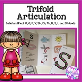 Articulation Trifolds Initial K, G, F, V, Sh, Ch, Th, R, S, L and S blends