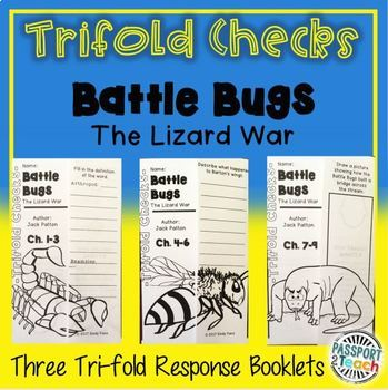 Trifold Check Comprehension- Battle Bugs: Lizard War