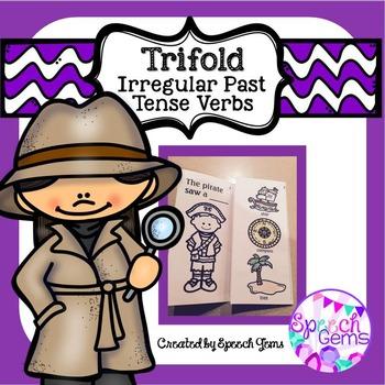 Trifold Irregular past tense verbs