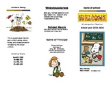 Trifold Open House Brochure Peanuts Theme