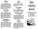 Trifold Printable Booklist: Reading Suggestions for Boys,
