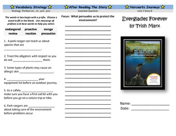 Harcourt Journeys Unit 2 Trifold Grade 5