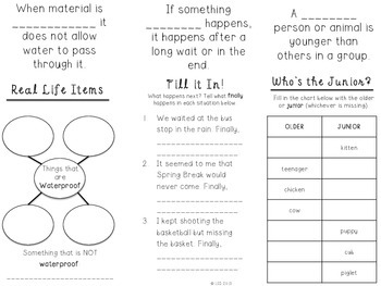 Trifold Vocabulary Practice {Journey's Edition} Unit 5