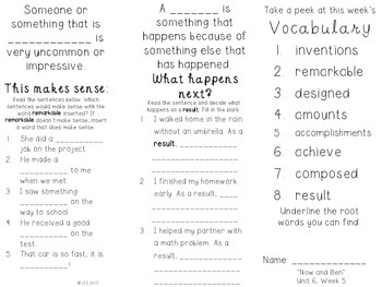 Trifold Vocabulary Practice {Journey's Edition} Unit 6