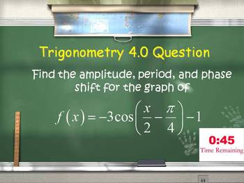 Trig 1.0 - 9.0 Review (Smarter Than a 5th Grader Game)