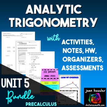 Analytic Trigonometry Bundle for PreCalculus and Trigonometry