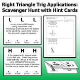 Trig Applications - Scavenger Hunt with Hint Cards