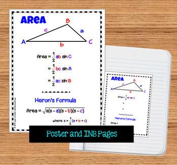 Trigonometry Area of Oblique Triangles with SAS and Heron's Formula