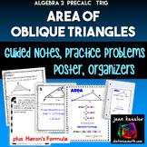 Trigonometry Area of Oblique Triangles with SAS and Heron'