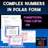 Trig Demoivre's Theorem Task Cards PowerPoint plus HW