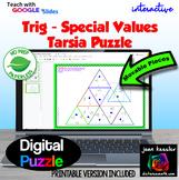 Trigonometry Special Values Tarsia Puzzle with GOOGLE Slides™