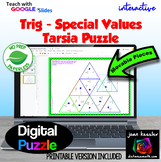 Trigonometry Special Values of the Unit Circle Tarsia Puzzle Distance Learning