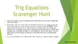 Trig Equations Scavenger Hunt