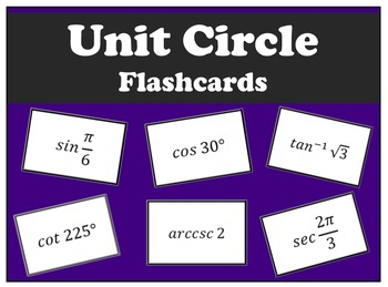 Unit Circle Flash Cards