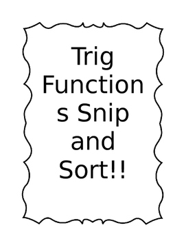Trig Function Cut and Paste