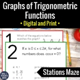 Trig Function Graphs Stations Maze