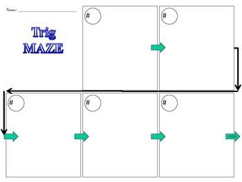 Trig Function Real-World Word Problem Fun Activity Trigonometry Trigonometric