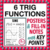 Trig Functions Graphing Posters