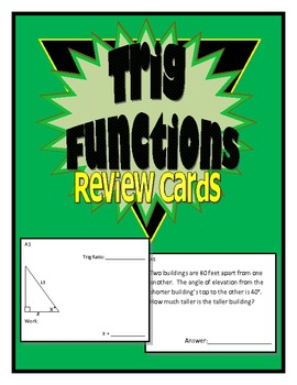 Trig Functions Review Cards